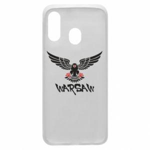 Etui na Samsung A40 Warsaw eagle black ang red
