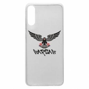 Etui na Samsung A70 Warsaw eagle black ang red