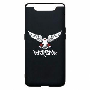 Etui na Samsung A80 Warsaw eagle black ang red