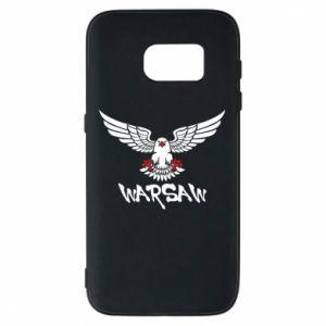 Etui na Samsung S7 Warsaw eagle black ang red