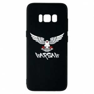 Etui na Samsung S8 Warsaw eagle black ang red