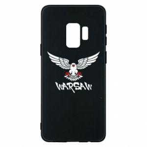Etui na Samsung S9 Warsaw eagle black ang red