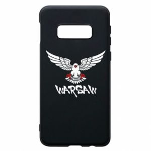 Etui na Samsung S10e Warsaw eagle black ang red