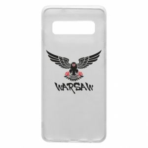 Etui na Samsung S10 Warsaw eagle black ang red