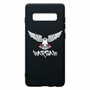 Etui na Samsung S10+ Warsaw eagle black ang red