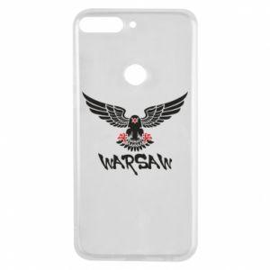 Etui na Huawei Y7 Prime 2018 Warsaw eagle black ang red
