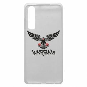 Etui na Huawei P30 Warsaw eagle black ang red