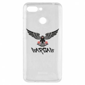 Etui na Xiaomi Redmi 6 Warsaw eagle black ang red