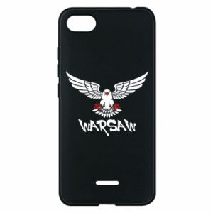 Etui na Xiaomi Redmi 6A Warsaw eagle black ang red