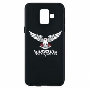 Etui na Samsung A6 2018 Warsaw eagle black ang red