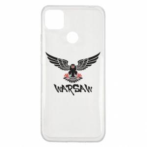 Xiaomi Redmi 9c Case Warsaw eagle black ang red