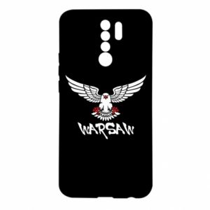 Etui na Xiaomi Redmi 9 Warsaw eagle black ang red