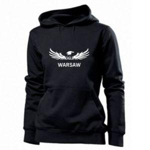 Women's hoodies Warsaw eagle black or white - PrintSalon