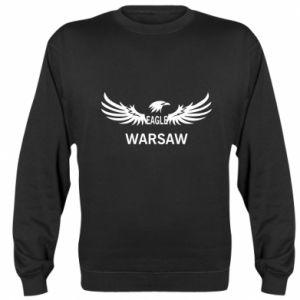 Sweatshirt Warsaw eagle black or white - PrintSalon