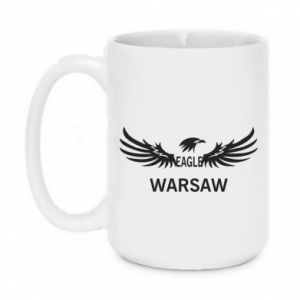 Mug 450ml Warsaw eagle black or white - PrintSalon