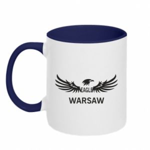 Kubek dwukolorowy Warsaw eagle black or white