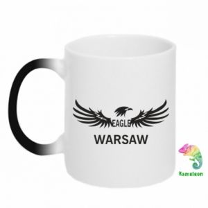 Kubek-kameleon Warsaw eagle black or white