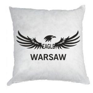 Pillow Warsaw eagle black or white - PrintSalon