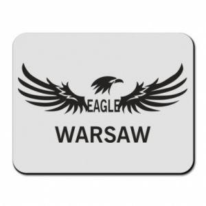 Mouse pad Warsaw eagle black or white - PrintSalon