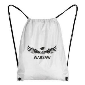 Backpack-bag Warsaw eagle black or white - PrintSalon