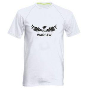 Men's sports t-shirt Warsaw eagle black or white - PrintSalon