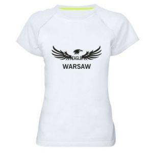 Women's sports t-shirt Warsaw eagle black or white - PrintSalon
