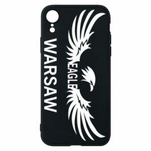 Phone case for iPhone XR Warsaw eagle black or white - PrintSalon