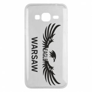 Phone case for Samsung J3 2016 Warsaw eagle black or white - PrintSalon