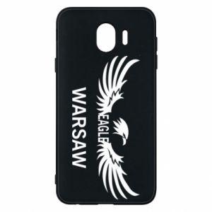 Phone case for Samsung J4 Warsaw eagle black or white - PrintSalon
