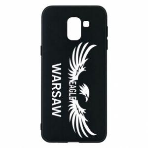 Phone case for Samsung J6 Warsaw eagle black or white - PrintSalon