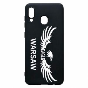 Phone case for Samsung A20 Warsaw eagle black or white - PrintSalon