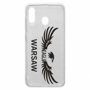 Phone case for Samsung A30 Warsaw eagle black or white - PrintSalon