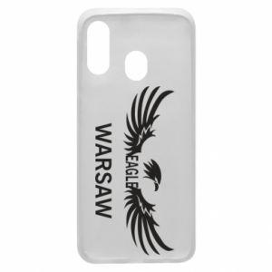 Phone case for Samsung A40 Warsaw eagle black or white - PrintSalon