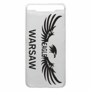 Phone case for Samsung A80 Warsaw eagle black or white - PrintSalon
