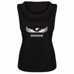 Women's t-shirt Warsaw eagle black or white - PrintSalon