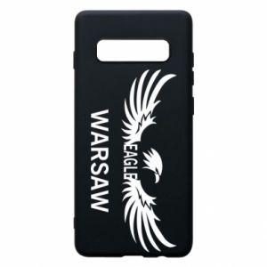 Phone case for Samsung S10+ Warsaw eagle black or white - PrintSalon
