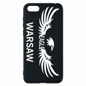 Phone case for Huawei Y5 2018 Warsaw eagle black or white - PrintSalon