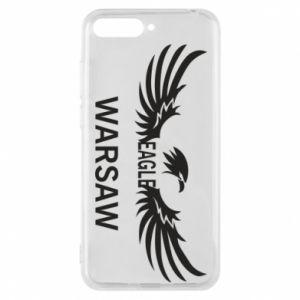 Phone case for Huawei Y6 2018 Warsaw eagle black or white - PrintSalon