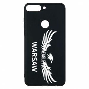 Phone case for Huawei Y7 Prime 2018 Warsaw eagle black or white - PrintSalon