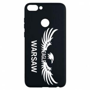 Phone case for Huawei P Smart Warsaw eagle black or white - PrintSalon