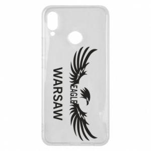 Phone case for Huawei P Smart Plus Warsaw eagle black or white - PrintSalon