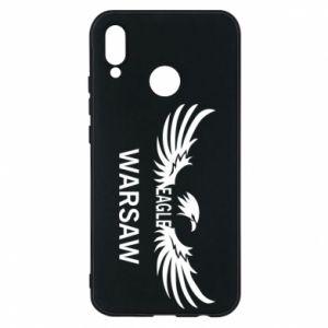 Phone case for Huawei P20 Lite Warsaw eagle black or white - PrintSalon