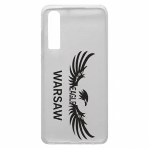 Phone case for Huawei P30 Warsaw eagle black or white - PrintSalon
