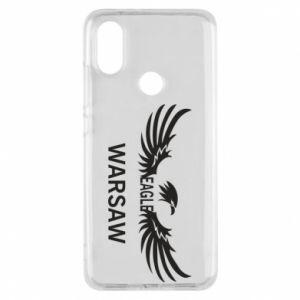 Phone case for Xiaomi Mi A2 Warsaw eagle black or white - PrintSalon