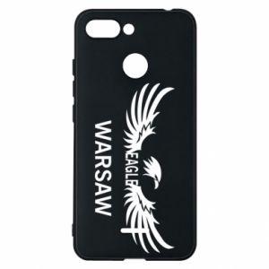 Phone case for Xiaomi Redmi 6 Warsaw eagle black or white - PrintSalon