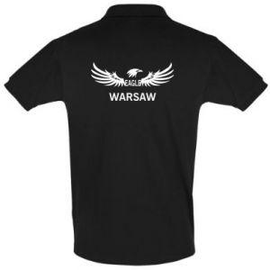 Men's Polo shirt Warsaw eagle black or white - PrintSalon