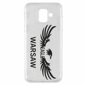 Phone case for Samsung A6 2018 Warsaw eagle black or white - PrintSalon