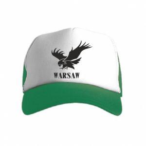Czapka trucker dziecięca Warsaw eagle