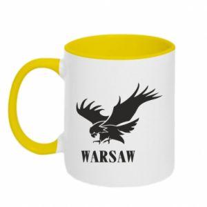 Two-toned mug Warsaw eagle