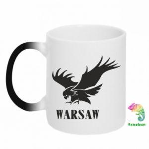 Kubek-kameleon Warsaw eagle